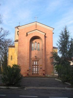 La facciata della chiesa attuale