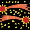 La cometa e il cielo stellato